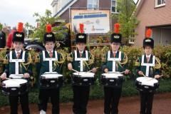 5 nieuwe tamboers lopen eerste feestweek bij Liefde voor Harmonie